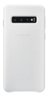 Capa Protetora Samsung Galaxy S10 Couro Branco