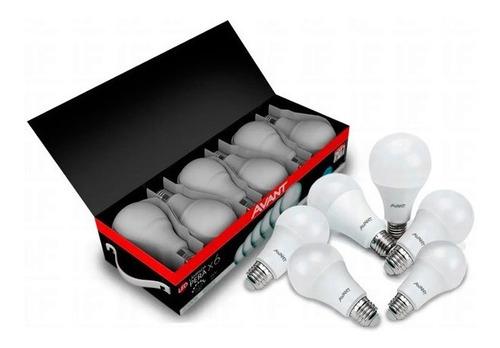 Imagem 1 de 7 de Kit 6 Lâmpada Led 9w Bulbo Soquete E27 Bivolt Casa Comércio