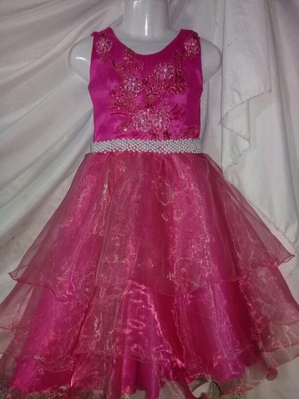 Vestido De Fiesta Bordado Con Perlas Talle 8