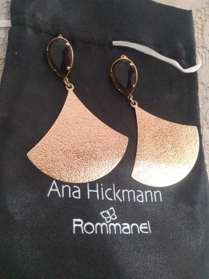 Brinco Rommanel Leque Com Pedra Pedra Ana Hickmann