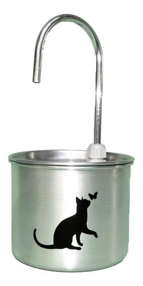 Bebedouro Fonte Gatos 1,3 L Em Alumínio Escovado