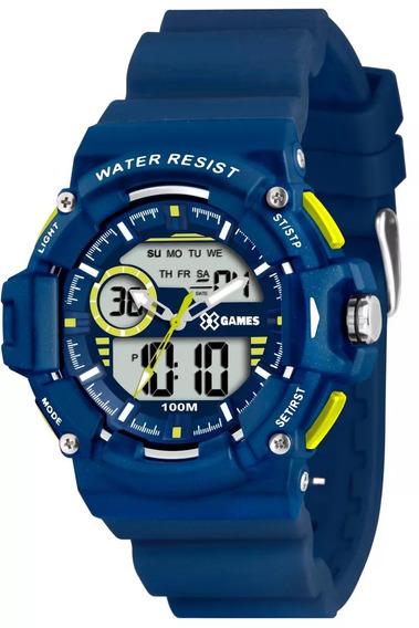 Relógio X-games Masculino Anadigi Xmppa152 Bxdx Azul