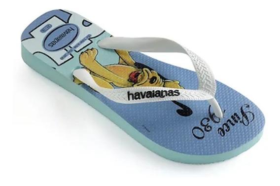 Chinelo Masculino Havaianas Disney Pluto Ice Blue 010371