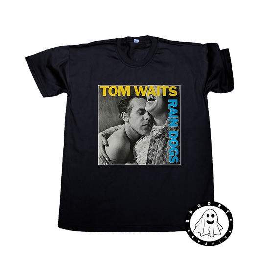 Remera Tom Waits Arte Album Rain Dogs