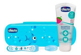 Set De Higiene Oral Chicco Cepillo Pasta Y Neceser Babymovil