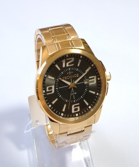 Relógio Dourado Masculino Technos Performance 2115laa/4c