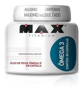 Ômega 3 - Max Titanium - 90 Cápsulas - Óleo De Peixe