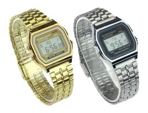 Relógio Classico Retrô Vintage Dourado Ou Prata Elegante