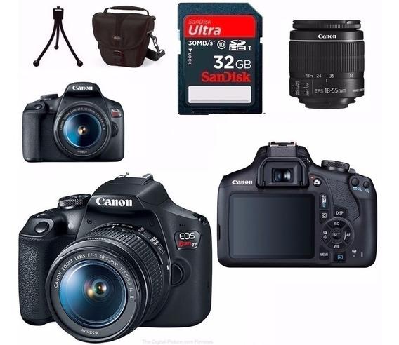 Canon Eos Rebel T7 C/18-55mm+50mm Stm+32bg+bolsa