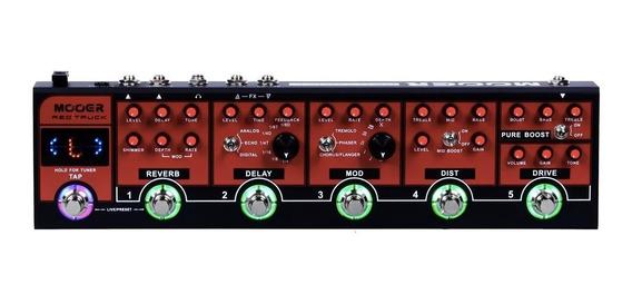 Combo + Pedaleira Mooer De Efeitos Red Truck + Fonte Hayonik