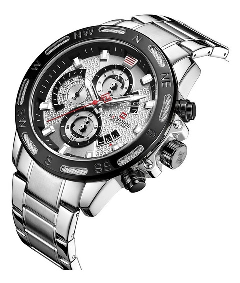 Relógio Masculino Naviforce Esportivo Lançamento 9165