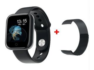 Relógio Lançamento Smartwatch T80 Masculino 2 Pulseiras