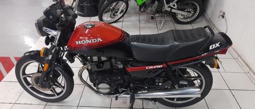 Honda Cb 450dx 1988 Vermelha Perfeita Toda Revisada