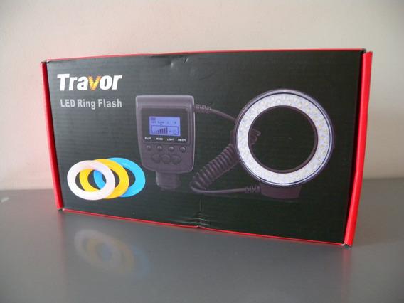 Travor Macro Led Ring Flash Camera Foto Video Kit Completo
