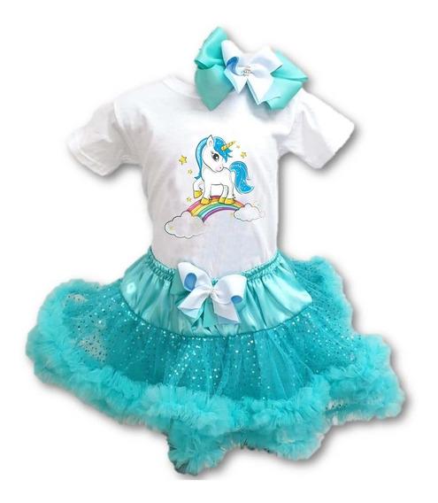 Conjunto Falda Y Playera Elsa Unicornio Personalizado 0 A 4a