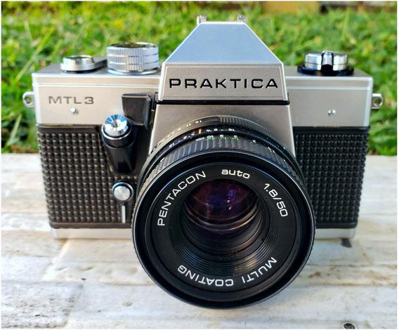 Máquina Fotográfica Praktica Mtl-3 Alemã Relíquia