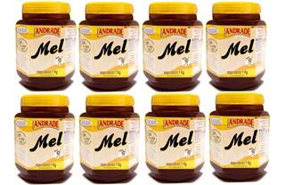 Kit Com 8 Potes Mel Puro 1kg - Natunectar 100% Puro