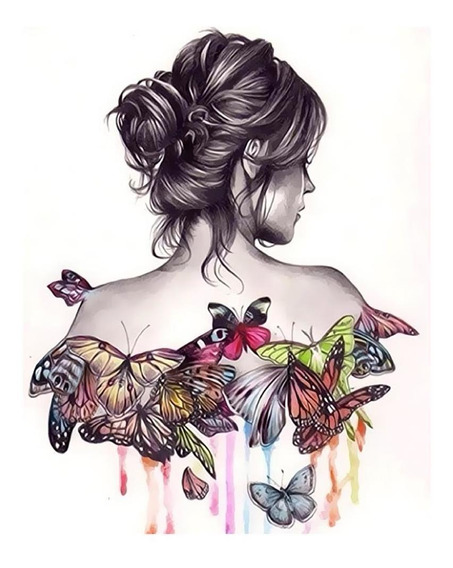 Sem Moldura Borboleta Beleza 3d Diy Pintura Por Números Kit