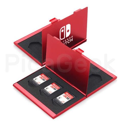 Estuche Aluminio Nintendo Switch Para Juegos Cartuchos