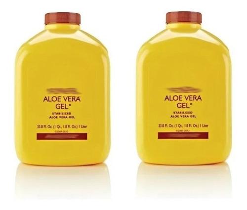Kit Dois Suco De Aloe Vera Gel Natural
