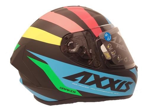 Casco Integral Axxis Draken Premier Azul Mate