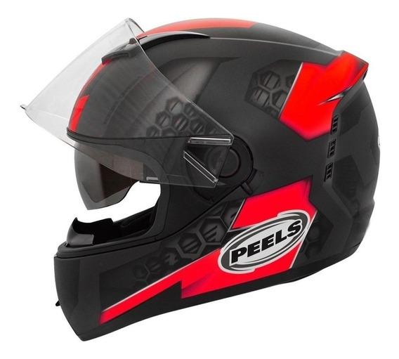 Capacete para moto Peels Icon Dash preto/vermelhoXL