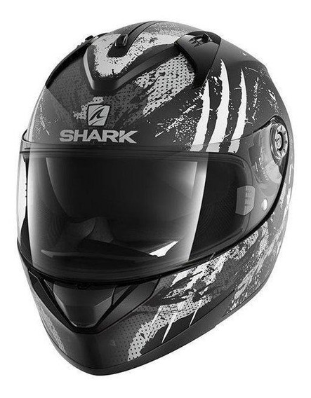 Capacete para moto integral Shark Ridill Drift-R black, anthracite, silver tamanho S