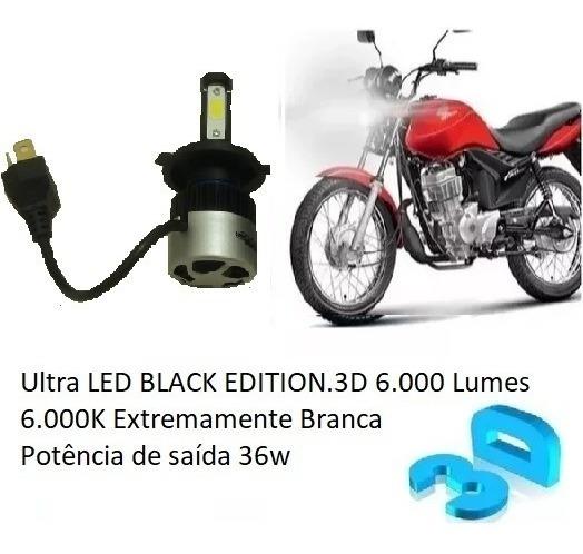 Lampada Ultra Led H4 Farol Moto Honda Cg 150 Fan E Titan