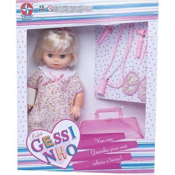 Boneca Bebê Gessinho Com Acessórios Estrela