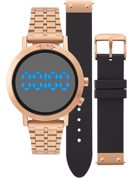 Relógio Digital Euro Feminino Fashion Fit Rosé - Eubj3407a