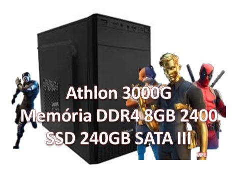 Cpu Gamer Athlon 3000g/ 8gb/ Ssd 240gb/ Vga Vega Integrada