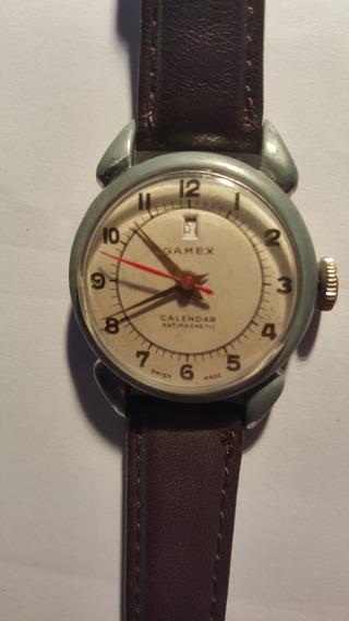 Reloj Gamex Suizo Raro Vintage Tapa Dorada
