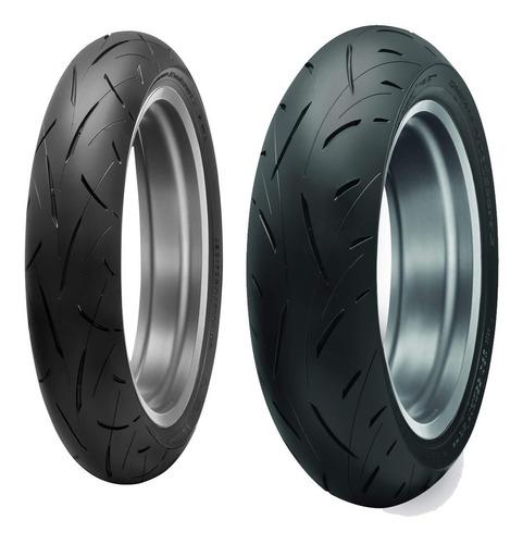 Juego Cubiertas Dunlop 180 55 17 120 70 Road Sport Roadsport