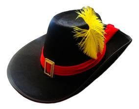 Sombrero Negro Gato Con Botas Gorro Duende Disfraz Cotillon