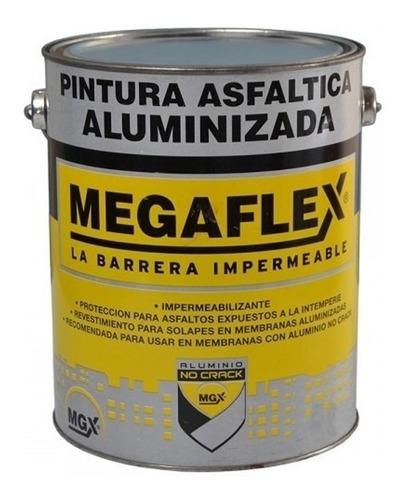 Imagen 1 de 6 de Pintura Asfaltica Aluminizada Megaflex X 4 Litros Mm