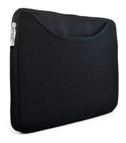 Imagem 1 de 3 de Capa Case Para Notebook Bolso Frontal 15.6 Pol - Preto