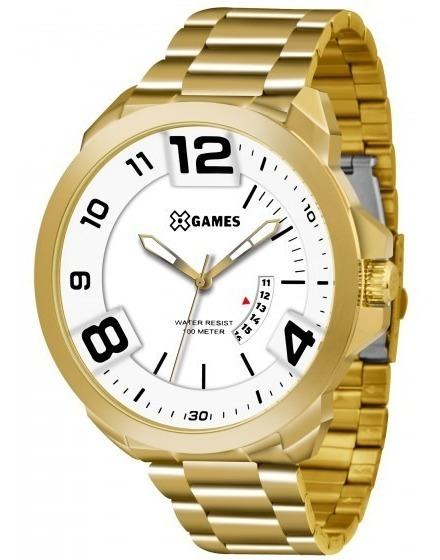 Relógio Xgames Xmgs1016 B2kx Dourado Redondo Aço - Refinado