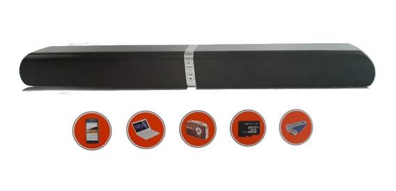 Caixa De Som Bluetooth Wireless Bt Soud Bar Aux Sd Usb Fm