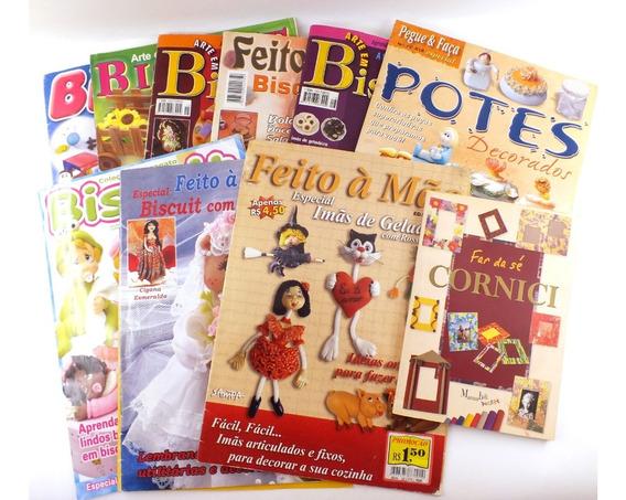 Lote 10 Revista Livro Artesanato Biscuit Boneca Decor B4067