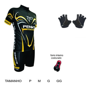 Conjunto Masculino Speed Biking Camisa+bermuda+luva