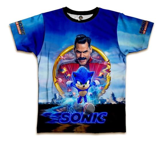 Camiseta Sonic Infantil Estampa Digital Blusa Mod 0015