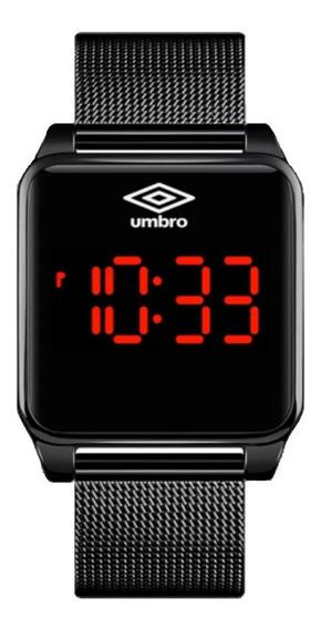 Relógio De Pulso Umbro Umb-051-b Led Touch Preto Garantia Nf