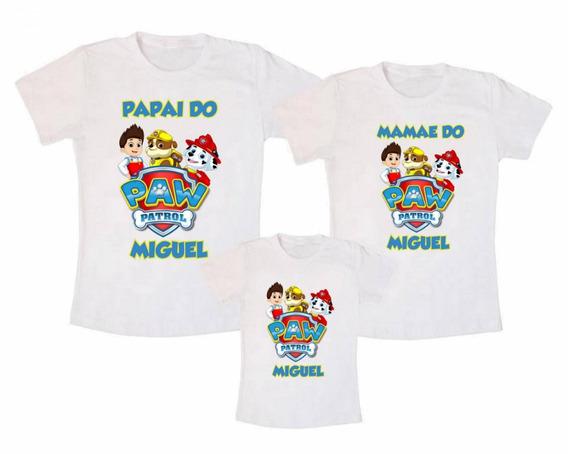 Camiseta Kit Família Patrulha Canina