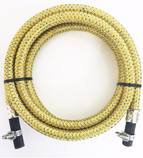 Mangueira Gas 5mts Multicombustivel Aço Inox C/ Braçadeira