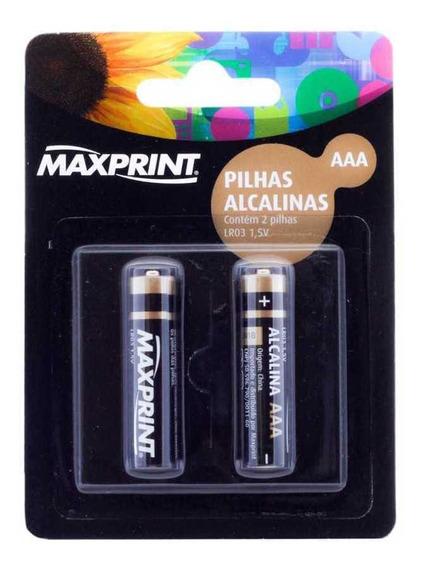 Blister De Pilhas Aaa Maxprint Alcalina (2 Pilhas Aaa)
