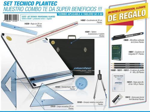 Imagen 1 de 4 de Tablero Dibujo 40x50 Tecnico Paralela Maletín + Accesorios