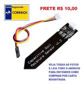 Sensor Capacitivo Umidade Do Solo Maior Durabilidade Arduino