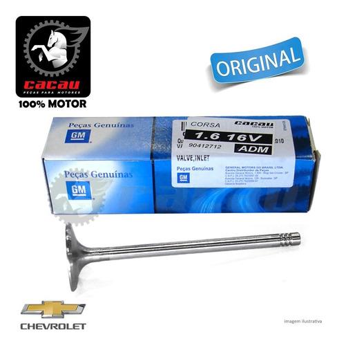 Válvula De Admissão Chevrolet Corsa 1.6 16v Original Gm