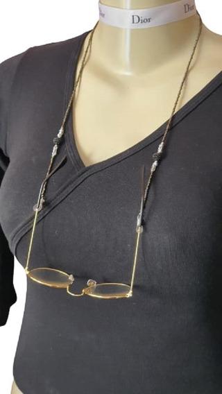 Cordão Prende Salva Óculos Corrente Cinza Opção Presentear