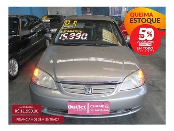 Honda Civic 1.7 Ex 16v Gasolina 4p Automático